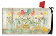 Spring Egg Bouquet Easter Large Mailbox Cover Primitive Chick Oversized