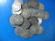 Walking Half 1934 To 1947 D And S Mints All Vf Only 50 Coin Investor Lot