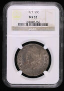 1827 Capped Bust Silver Half Dollar Coin Ngc Ms62
