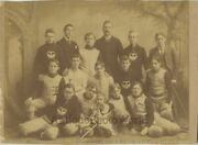 Transit Football Club Young Men With Baby In Great Uniforms Antique Sport Photo