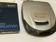 Sony Walkman Radio , Discman Cd And Rca Cassette Players Lot Of 3 Tested Pre Owned