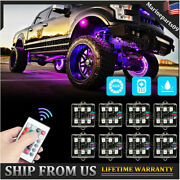 Rgb Led Rock Lights Multicolor Neon Strip Underglow Light Kit For Off-road Truck