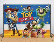 Toy Story Backdrop Boys Birthday Party Background Baby Shower Photo Decor Props