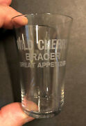 Wild Cherry Bracer Great Appetizer Etched Pre Pro Tall Bitters Shot Glass