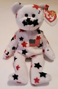 Ty Original Retired Beanie Baby Glory The Bear With Errors 1997-98 Tags. Rare.