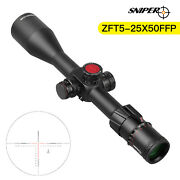 Sniper 5-25x50 First Focal Plane Ffp Rifle Scope Red/green Illuminated Reticle