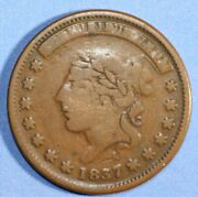 1837 Liberty Head Not One Cent For Tribute Hard Times Token