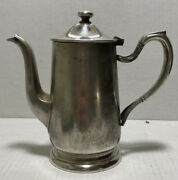 Antique Victor S. Co Silver Soldered Individual 16oz Coffee Tea Pitcher