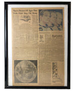 Man Walk First Step On Moon Clarion Ledger Newspaper From July 13, 1969 Jackson