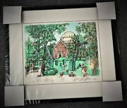 Mark Mcmahon Lake Forest Library 24x21 Signed Ltd Ed Print 6 Of 100 Pristine