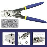 Stainless Steel Fishing Pliers Wire Rope Crimping Tool W/150pcs Ferrule Removers