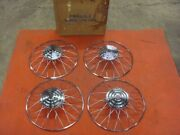 Nos 47 48 49 50 Chevrolet Chevy Wire Spoke Wheel Caps 49-53 Plymouth Set Of 4