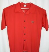 Bacardi Rum Men's Red Button Up Shirt Nwt Large Short Sleeve