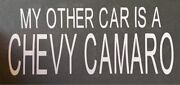 My Other Car Is A Chevy Camaro Rear Window Vinyl Transfer/exterior Sticker-new