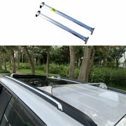 Fit For 2017-2020 Jeep Compass Chrome Steel Top Roof Cargo Rack Cross Bars 2pcs