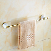 Towel Bars Gold Silver Towel Bar Towel Holder Solid Brass Made Wall Install