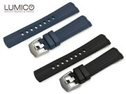 For 20mm 22mm Omega Seamaster Diver 300m Rubber Strap Watch Band Buckle