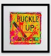 E.m. Zax Buckle Up Hand Painted Original On Metal