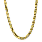 14k Yellow Gold Miami Cuban Link Chain 26 Inches Long 6.75mm Wide
