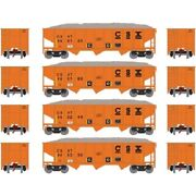 4 Pack Athearn N Scale 40' Outside Braced Hoppers Csx Ath1848 W/ Loads