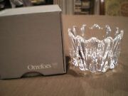 Orrefors Crystal Glass Fleur Bowl By Johansson 4514, Signed Orrefors With Box