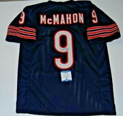 Jim Mcmahon Signed Chicago Bears Custom Stitched Football Jersey Beckett Bas