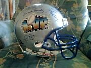 Super Bowl Mvp Autographed Football Full-sized Helmet With 20 Signatures 47/152