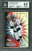 1998 Pinnacle Inside Conference Clash Test Issue Afc5 John Elway Bgs 8.5