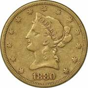 1880-s 10 Gold Liberty Head Vf Uncertified