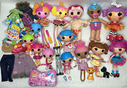 Lalaloopsy Full Size, Little, Pet Dolls, And Accessories Lot Of 14
