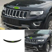 Front Grille Grill Engine Hood Strip Abs For Jeep Grand Cherokee 2014-2016 Black