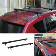 Fit For Jeep Compass 2011-2016 Black Aluminum Top Roof Cargo Rack Cross Bars 2x