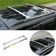 Silver Steel Top Roof Rack Luggage Carrier Rail For 11-2020 Jeep Grand Cherokee
