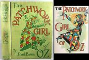 1913 The Patchwork Girl Of Oz L. Frank Baum 1st Edition 1st Issue Wizard Of Oz