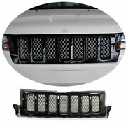 For 2011 2012-2013 Jeep Grand Cherokee Black Front Bumper Center Hood Grill Mesh