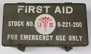 Complete Vintage Wwii Us Army Medical Jeep First Aid Kit Metal Box Medic Vehicle