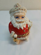 Vintage Santa Claus 7 Inch Tall Piggy Bank Made In Japan