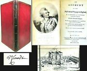 1784 First Aerial Voyage In England Signed Vicenzo Lunardi Air Flight Aviation