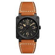 New Bell And Ross Br 03-92 Heritage Matte Black Ceramic Watch Br0392-heritage-ce