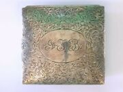 Rare Art Deco Sterling Silver Made For And Co. Flora Jewelry/trinket Box.