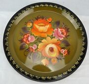 Khokhloma Russian Lacquer Ware Hand Painted Plate B.bibsm/kh1