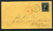 Scott 85e Washington Z-grill Used Stamp On Cover With Pf Cert Stock 85-cvr