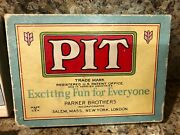 Rare Vintage Card Game Pit Bull And Bear Edition 1919 Parker Brothers Complete