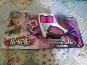 New Nerf Rebelle Flipside Toy Bow Blaster Pink Purple White Gray 80 Ft Ages 8 +