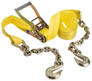 Keeper 04650 27and039 X 2 Heavy Duty Ratchet Tie-down With Chain End And Grab Hook