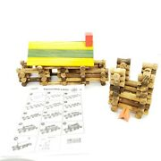 Real Wood Toys Frontier Logs 114 Piece Lincoln Logs Set