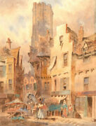 W. Allen - Signed Late 19th Century Watercolour, Continental Street