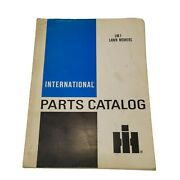 1974 International Harvester Lm-1 Lawn Mowers Parts Catalog Revision 2 Ih83