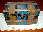 Antique Dome Lid Trunk Small Size