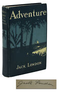 Adventure Signed By Jack London First Edition 1st Printing 1911 Hardcover